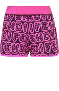 Мини-шорты с логотипом бренда и эластичным поясом Fendi