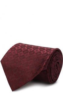 Шелковый галстук с узором Emporio Armani