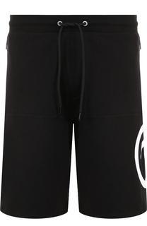 Хлопковые шорты с поясом на кулиске Dirk Bikkembergs