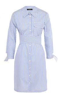 Хлопковое платье-рубашка в полоску Pietro Brunelli