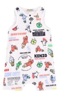 Хлопковый песочник с принтом Kenzo