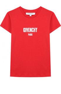 Футболка джерси с надписью Givenchy
