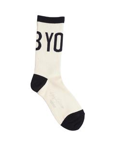 Белые носки с лого Yohji Yamamoto