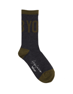 Серые носки с лого Yohji Yamamoto