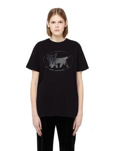 Хлопковая футболка с принтом Blackyoto