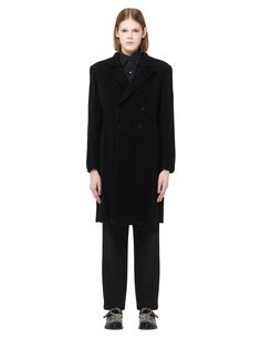 Двубортное пальто с принтом Blackyoto