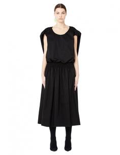 Хлопковое платье со складками на спине The Row