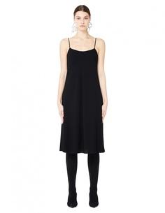 Черное платье-комбинация The Row