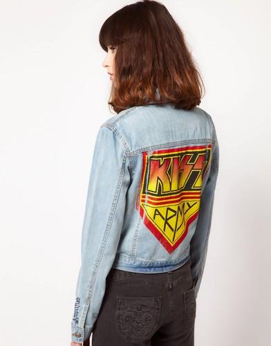 Джинсовая куртка Amplified Kiss - Синий