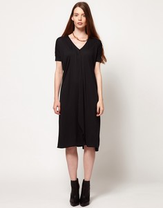 Платье с рукавами в рубчик Dagmar - Серый