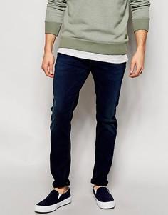 Темные джинсы скинни Diesel Sleenker 664E - Синий