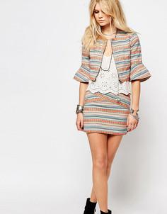 Мини-юбка с вышивкой Glamorous Petite - Мульти