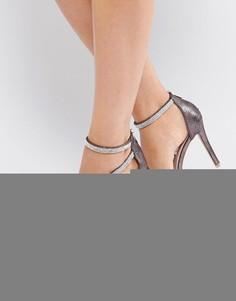 Босоножки с блестящими ремешками Miss KG - Серебряный