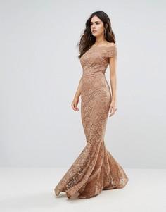 Кружевное платье City Goddess - Коричневый