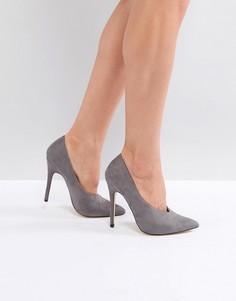 Туфли на каблуке с острым носком London Rebel - Розовый