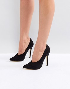Туфли на каблуке с острым носком London Rebel - Черный