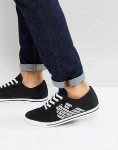 Кроссовки в винтажном стиле EA7 Cult - Черный