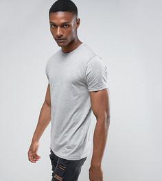 Меланжевая футболка Brave Soul TALL - Серый