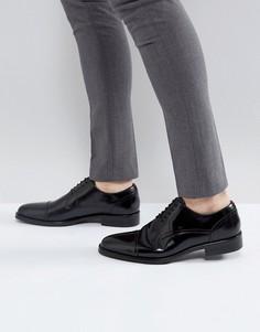 Черные кожаные туфли со вставкой на носке ALDO Berault - Черный