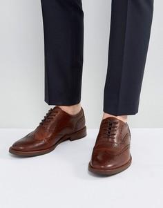 Светло-коричневые кожаные броги ALDO - Рыжий