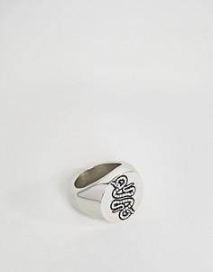 Кольцо со змеей ASOS - Черный