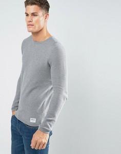 Джемпер с круглым вырезом из 100% хлопка Tom Tailor - Серый