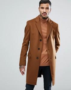 Кашемировое пальто HUGO Migor - Рыжий