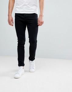 Черные супероблегающие джинсы Hoxton Denim - Черный