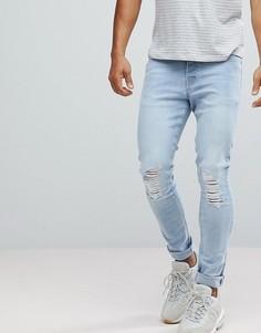 Голубые джинсы скинни Hoxton Denim - Синий