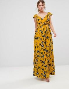 Шифоновое платье макси с цветочным принтом Traffic People - Мульти