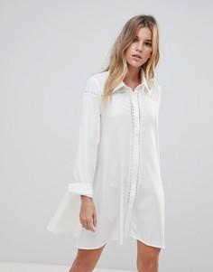 Платье-рубашка Glamorous - Кремовый