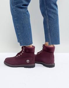 Бордовые ботинки на шнуровке Timberland 6 Inch Premium - Фиолетовый