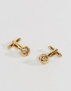 Золотистые запонки ASOS - Золотой