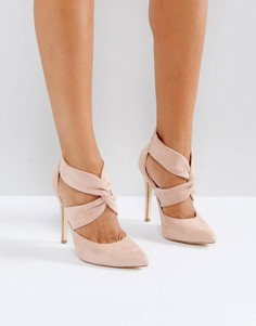 Туфли на высоком каблуке с молнией на заднике London Rebel - Медный