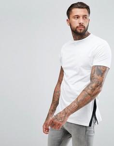 Свободная удлиненная футболка с разрезами по бокам ASOS - Мульти