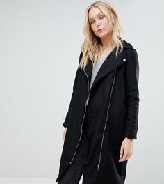 Байкерское пальто Brave Soul Tall Hindon - Черный