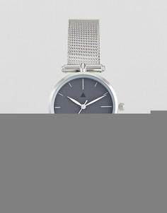 Темно-серые часы ASOS Premium - Серебряный