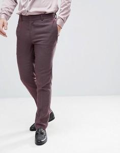 Фактурные брюки скинни ASOS Wedding - Фиолетовый