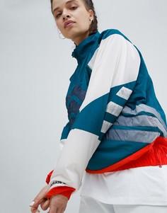 Куртка колор блок с короткой молнией Adidas Originals Nova - Красный