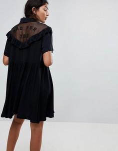 Платье с оборками Lazy Oaf - Черный