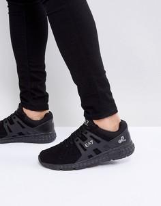 Черные кроссовки с замшевыми вставками EA7 Spirit - Черный
