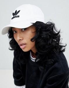 Белая кепка с трилистником adidas Originals - Белый