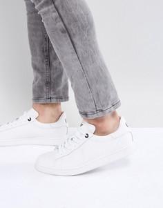Белые кроссовки с тисненым логотипом EA7 - Белый