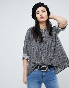 Свободная блузка с принтом Soaked In Luxury - Синий