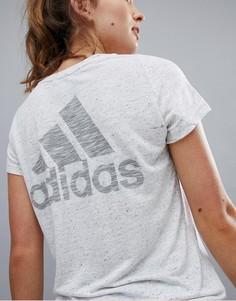 Белая футболка adidas - Белый