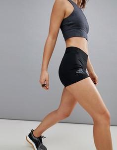 Черные шорты длиной 3 дюймов adidas Training - Черный