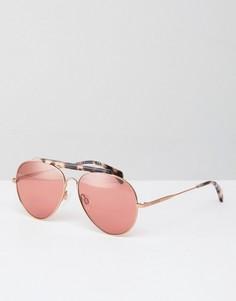 Солнцезащитные очки с затемненными стеклами Tommy Hilfiger - Золотой