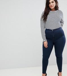 Темные джинсы скинни с завышенной талией ASOS CURVE RIDLEY - Синий
