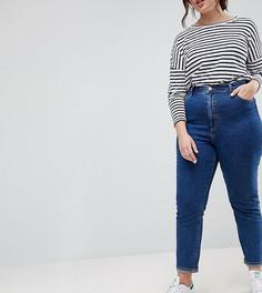 Выбеленные синие узкие джинсы в винтажном стиле с завышенной талией ASOS CURVE FARLEIGH - Синий