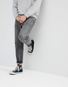 Черные выбеленные джинсы с защипами ASOS - Черный